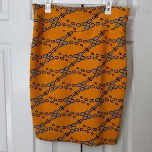 LuLaRoe Yellow Pencil Skirt